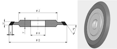 14V1 Flute Grinding Wheel