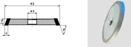 1V1-Flute Grinding Wheel