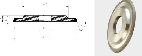 3V1-Flute Grinding Wheel