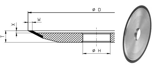 12V9-22* Grinding Wheel