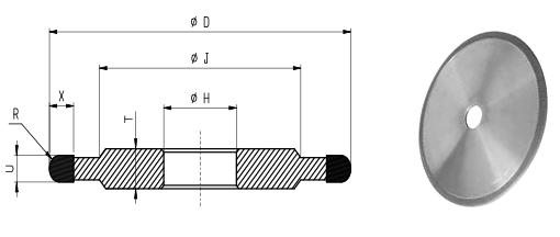 14F1-R Grinding Wheels