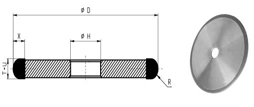 1F1-R Grinding Wheels